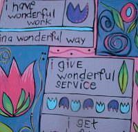 Art: 'Wonderful' Inspirational Painting - Sale! by Artist Lauren K Blair