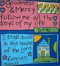 Art: 23rd Psalm Inspirational Painting - Sale! by Artist Lauren K Blair
