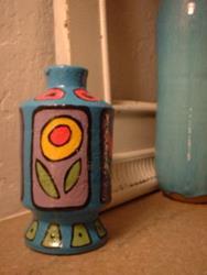 Art: Flower Vase by Artist Lauren K Blair