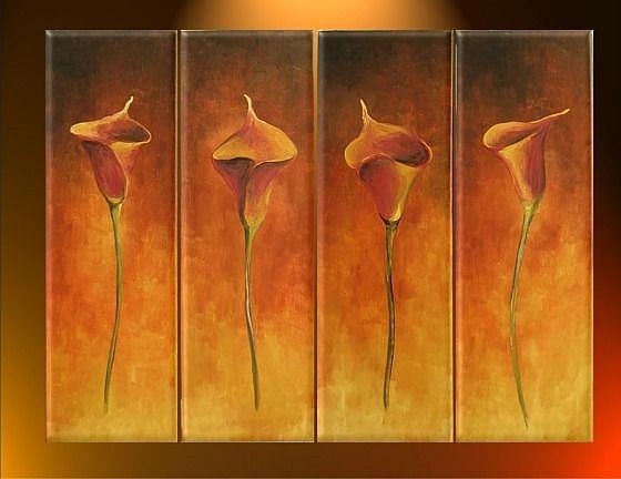 Art: Red Calias by Artist Ewa Kienko Gawlik