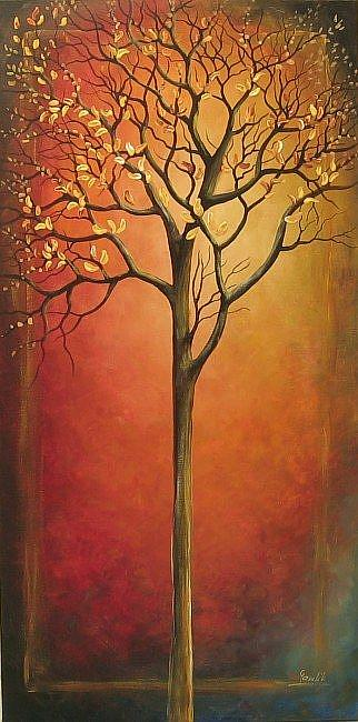 Art: The Tree In Red by Artist Ewa Kienko Gawlik