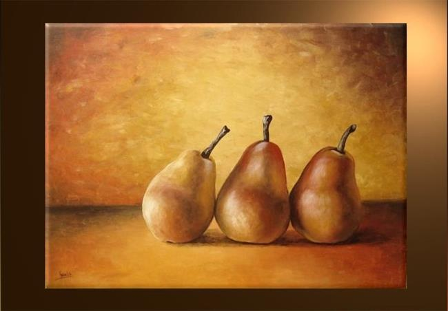 Art: Three Pears by Artist Ewa Kienko Gawlik