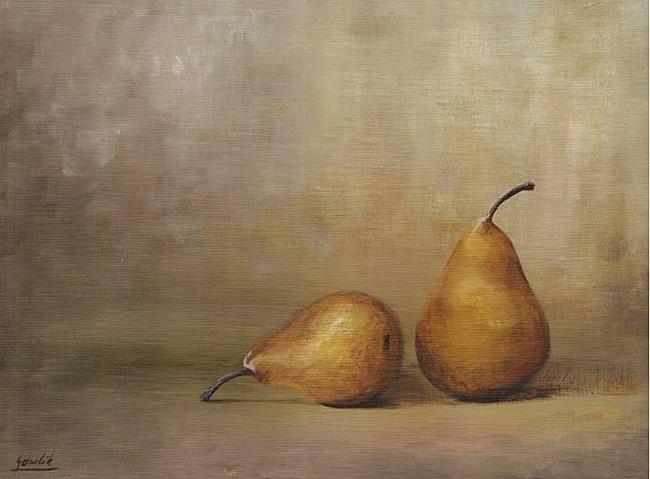 Art: Two Pears by Artist Ewa Kienko Gawlik