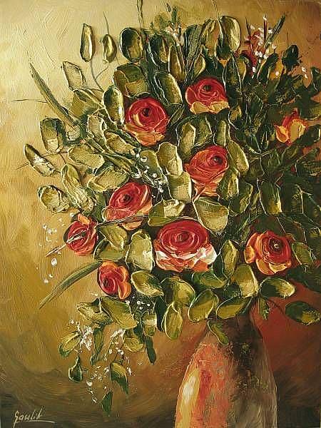Art: Rose Bouquet by Artist Ewa Kienko Gawlik