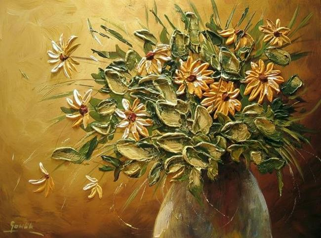 Art: Yellow Bouquet by Artist Ewa Kienko Gawlik