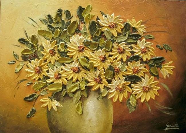 Art: Żółty Bukiet by Artist Ewa Kienko Gawlik