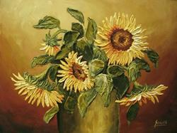 Art: Sunflowers by Artist Ewa Kienko Gawlik