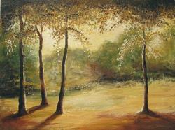 Art: Forest Clearing by Artist Ewa Kienko Gawlik