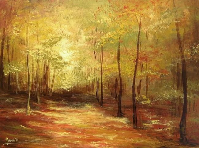 Art: jesiennylasek.jpg by Artist Ewa Kienko Gawlik