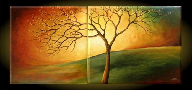Art: The Landscape With The Tree by Artist Ewa Kienko Gawlik