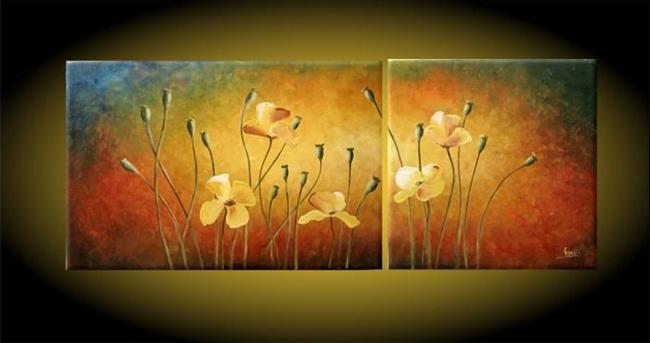 Art: Yellow Poppies by Artist Ewa Kienko Gawlik