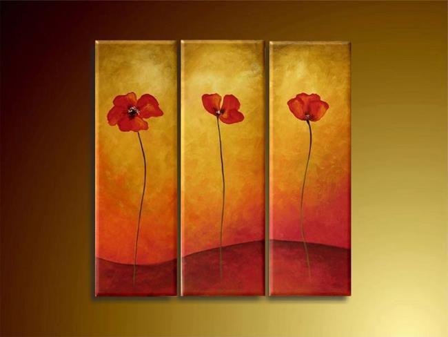 Art: Three Popies by Artist Ewa Kienko Gawlik