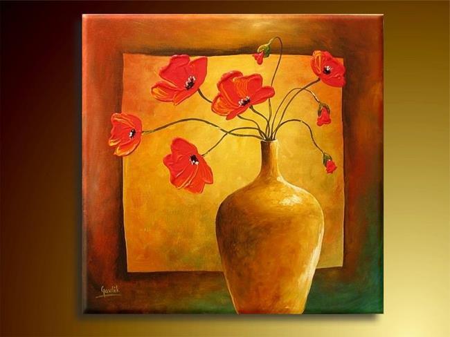 Art: Poppies Bouquet by Artist Ewa Kienko Gawlik
