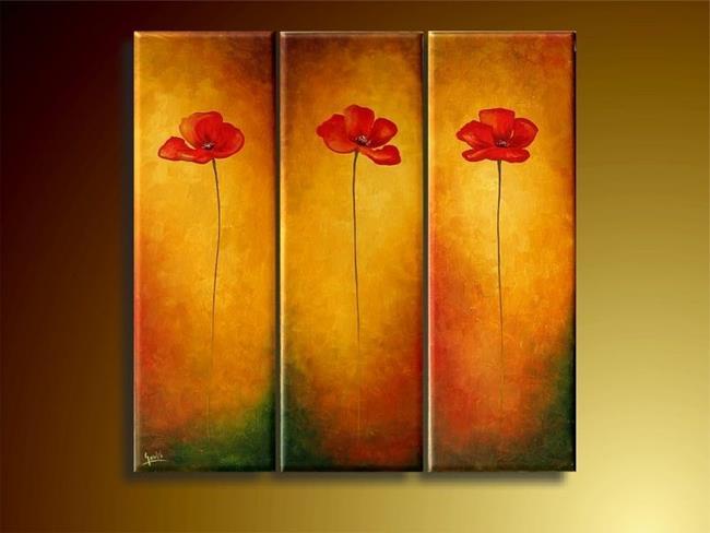 Art: Three Poppies by Artist Ewa Kienko Gawlik