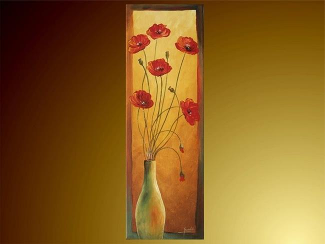 Art: The Flower in The Vase. by Artist Ewa Kienko Gawlik