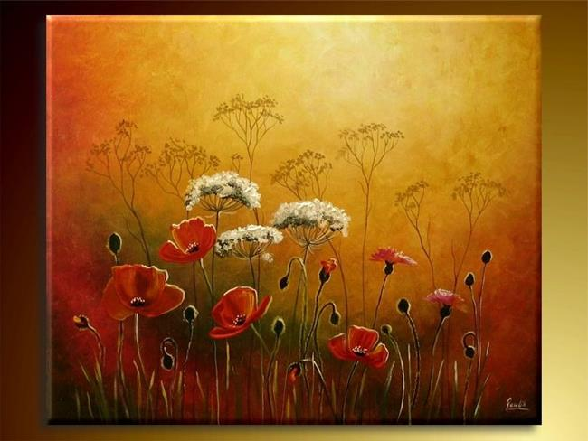 Art: The Meadow With Poppies. by Artist Ewa Kienko Gawlik