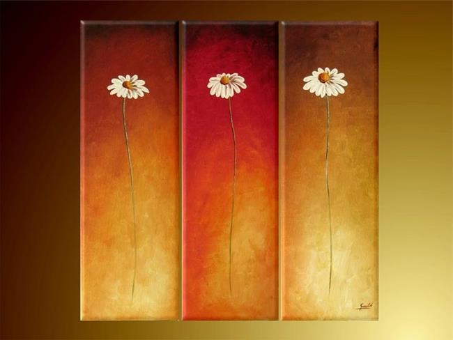 Art: Three Flowers by Artist Ewa Kienko Gawlik