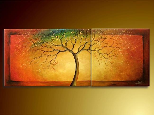 Art: Rainbow Tree by Artist Ewa Kienko Gawlik