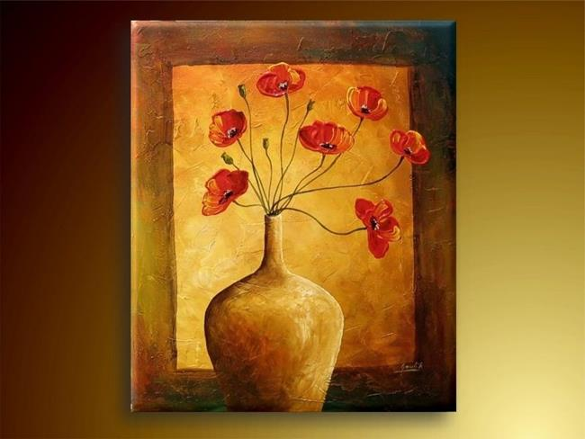 Art: The Poppies in The Vase. by Artist Ewa Kienko Gawlik