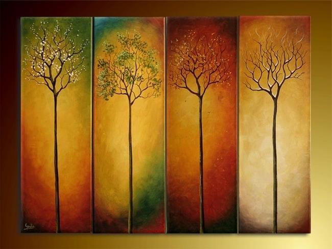 Art: Four Seasons by Artist Ewa Kienko Gawlik