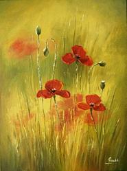 Art: The Poppies by Artist Ewa Kienko Gawlik