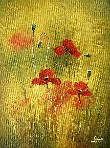 Art: The Poppies by Artist Ewa Kienko Gawlik