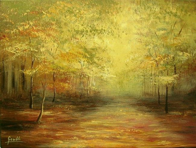 Art: Autumn Wood by Artist Ewa Kienko Gawlik