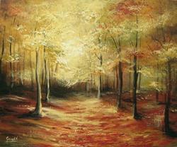Art: Autumn Wood by Artist Ewa Kienko Gawlik
