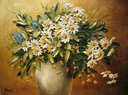 Art: Wild Flowers Bouquet by Artist Ewa Kienko Gawlik