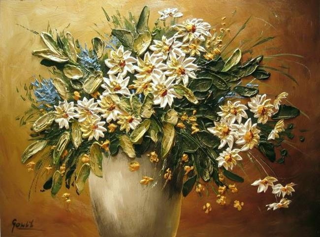 Wild Flowers Painting by Victor Leclaire | Oil Painting