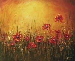 Art: Meadow with Poppies by Artist Ewa Kienko Gawlik