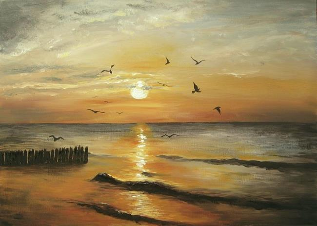 Art: Sunset by Artist Ewa Kienko Gawlik