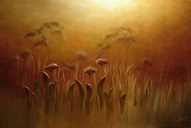 Art: Foggy Meadow by Artist Ewa Kienko Gawlik