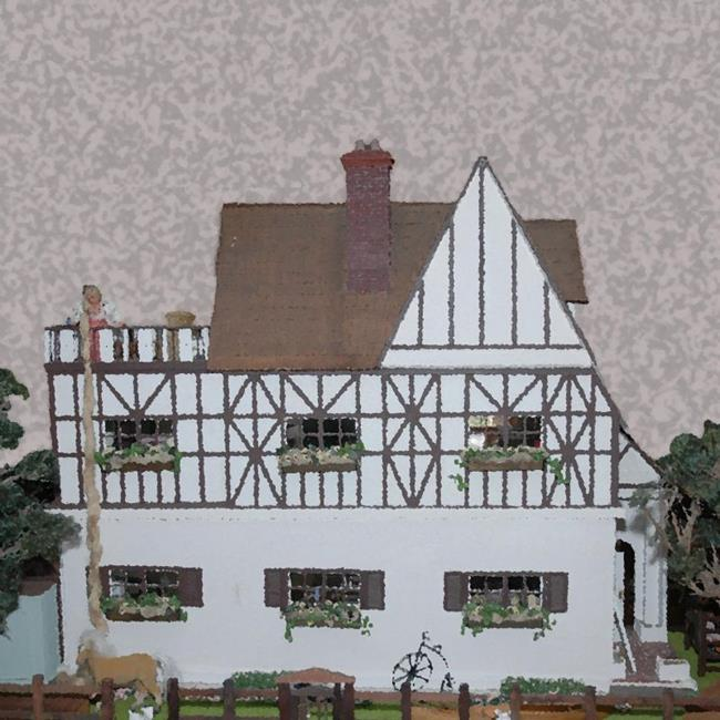 Art: Chateau Dollhouse by Artist Carissa M Martos