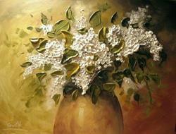 Art: White Lilac by Artist Ewa Kienko Gawlik