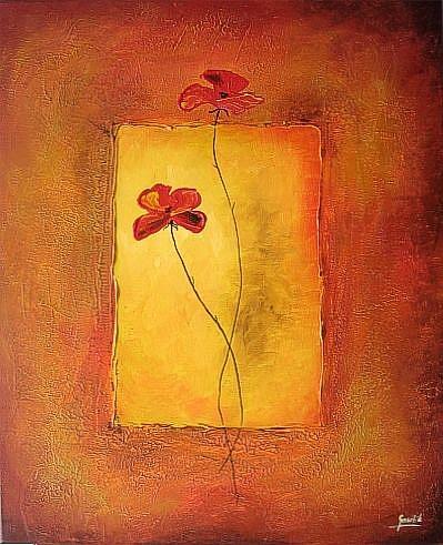Art: Two Poppies by Artist Ewa Kienko Gawlik