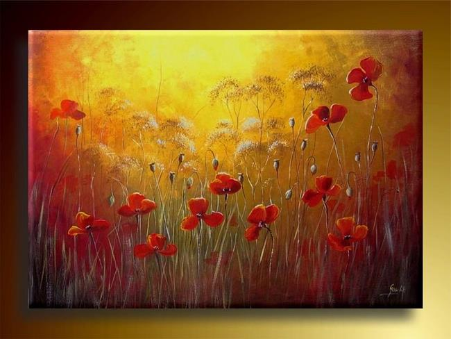 Art: POPPIES MEADOW by Artist Ewa Kienko Gawlik