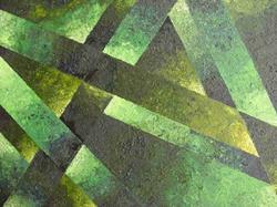 Art: VILLAGE GREEN - sold by Artist Bonnie G Morrow