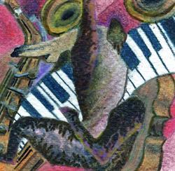 Art: Scintillating Music (SOLD) by Artist Judith A Brody