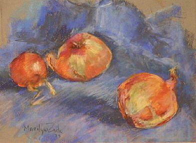 Art: Onions by Artist Marilyn L Zack