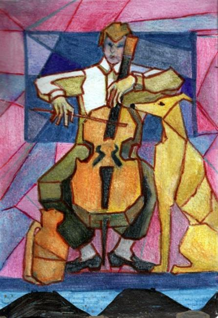 Art: Theatre of the Absurd (Trio with Cello)SOLD by Artist Judith A Brody