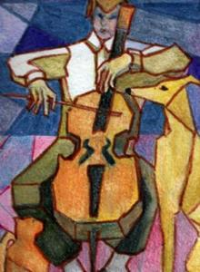 Detail Image for art Theatre of the Absurd (Trio with Cello)SOLD