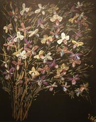 Art: Orchid Tree by Artist Rebecca M Ronesi-Gutierrez