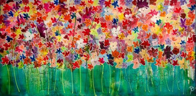 Art: Unity of Petal Profusion by Artist Rebecca M Ronesi-Gutierrez