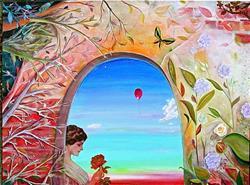 Art: Good-Bye Rose by Artist Shawn Marie Hardy