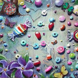 Art: Penny Candy and Periwinkle by Artist Shawn Marie Hardy