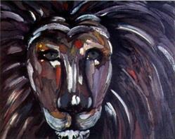 Art: Lion by Artist Adrienne Bouchard Langlois