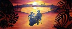Art: Summer Dream (Maquette for mural) by Artist Adrienne Bouchard Langlois