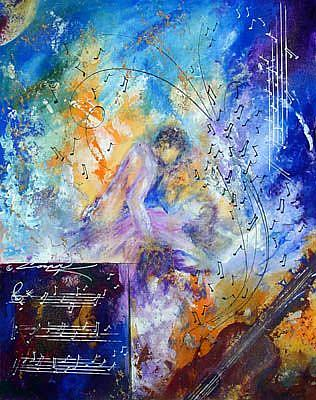 Art: ROMANCING THE DANCE by Artist Dottie Cooper Katz