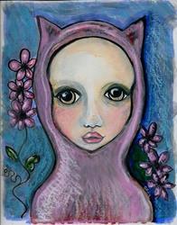 Art: Pinkie Flowers by Artist Sherry Key
